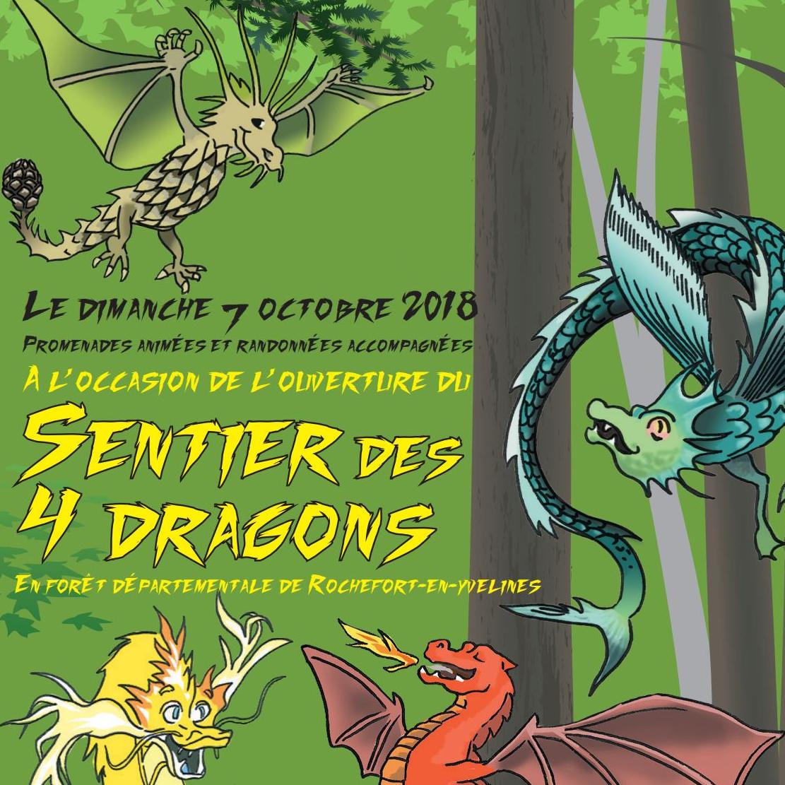 Inauguration du Sentier des 4 dragons dans la forêt de Rochefort