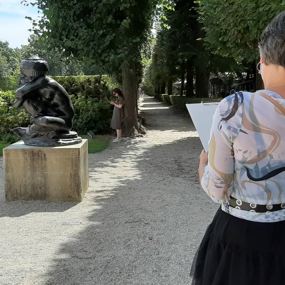 Atelier dessin au musée Rodin
